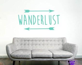 Wanderlust Typography Wall Decal