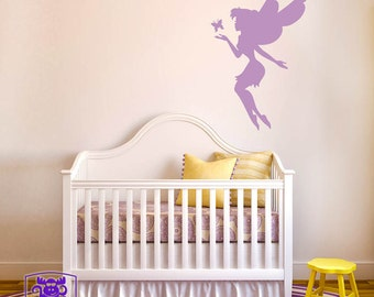 Fairy with Butterfly Wall Decal Decor