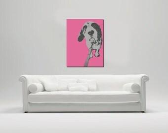 Pet custom Pop Art inspired portrait. Custom made. Digital file. Personalized photo.