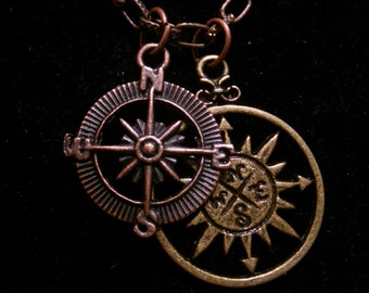 Lost At Sea Compass Necklace