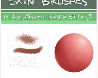 5 Skin brushes for Manga Studio 5.Digital tool.BRUSH. SKIN.