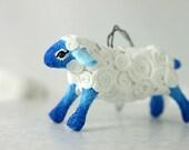 Sheep Ram Ornament Christmas Animal Totem Figurine Sculpture, Animal magic spirit amulet