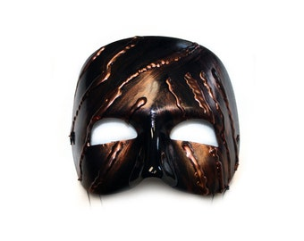 Claude Hand-Painted Coppery Men's Masquerade Mask - A-2095-E
