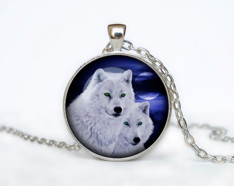 WOLF Pendant wolf necklace wolf couple wolf jewelry Loyalty necklace Loyalty pendant wolves jewelry
