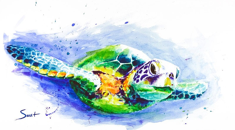 Ocean Animal Watercolor Painting for Kids | Arty Crafty Kids