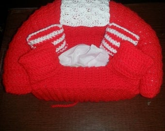 Couch Tissue Box Cover with pillows any color MADE TO ORDER