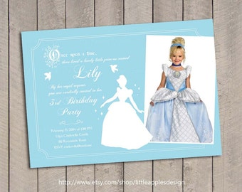 Cinderella Birthday Invitation / Cinderella invitation / Princess Invitation / Princess Invite / Cinderella Invite / Cinderella Printable