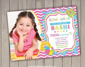 Pool  Invitation / Kids Pool Party Invitation / Pool Party Invitation / kids pool party / Pool birthday / Party Digital Printable DIY
