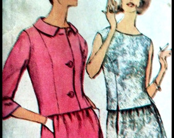 Simplicity 6217  Misses' Two-Piece Dress in Two Lengths And Jacket  Designer Fashion  Size 14  UNCUT