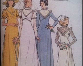 """Butterick 4622  Misses' Bridal And Bridesmaid Gowns  Bust  34"""""""