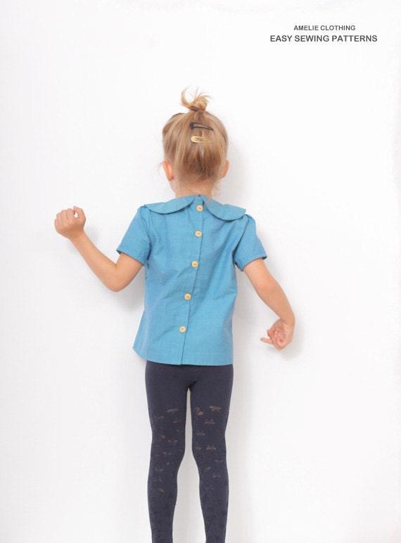 Peter pan collar blouse pattern girls blouse patterns for Peter pan shirt pattern