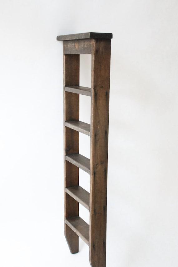 Chelle bois vintage petite chelle chelle rustique for Echelle decorative bois