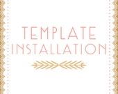 template installation add-on