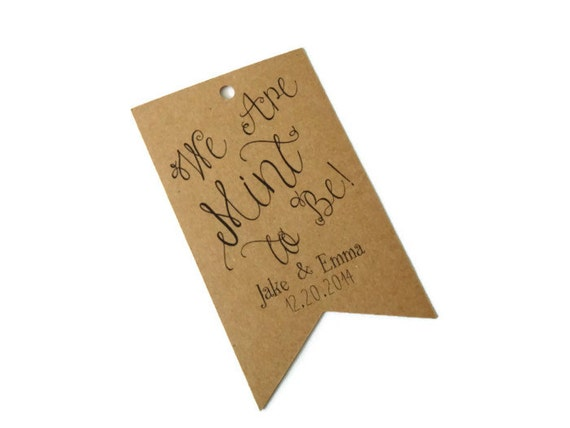 ... Kraft Wedding Favor Gift Hang Tags. Set of 24. Custom Thank You Tags