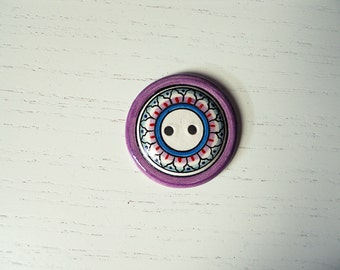 Button/hand painted ceramic Button # 2
