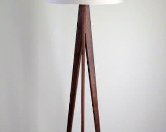 Floor Lamp - Tripod - Black Walnut