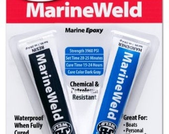 J-B Weld MarineWeld MARINE EPOXY 2 Part Glue metal fiberglass wood plastic aluminum waterproof & seal boat kayak water adhesive JB 8272