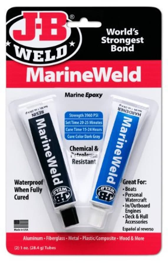J B Weld Marineweld Marine Epoxy 2 Part Glue Metal Fiberglass