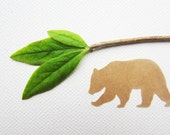 Brown Bear Stickers // Woodland Wedding Envelope Seals // 100% Recycled Paper