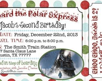 Polar Express Boarding Pass Invitation (Digital File)