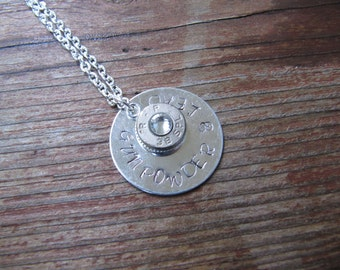 Bullet Necklace, Gunpowder and Lead, Bullet Jewelry, 2nd Amendment Jewelry, Country Jewelry, Gifts for Her, Stocking Suffer