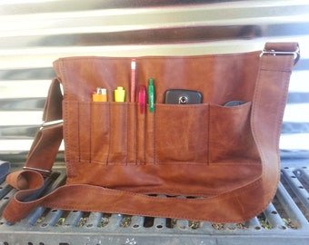 Gadget Pockets for my Leather messenger bag/ satchel