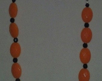 Orange With Black Fun Necklace