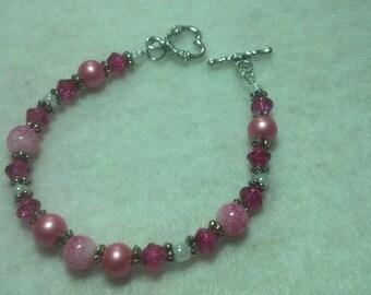 Pink Swirl Bracelet