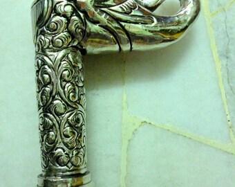 Indian White Silver Cane Namm Vintage Derby Handle