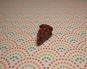 Polymer Clay Chocolate Cake Charm with sprinkles