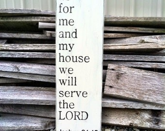 As For Me and My House We Will Serve The Lord Sign Religious Sign Scripture Sign Christian Sign Home Decor