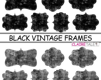 vintage black frame. Digital Clipart Labels: \ Vintage Black Frame