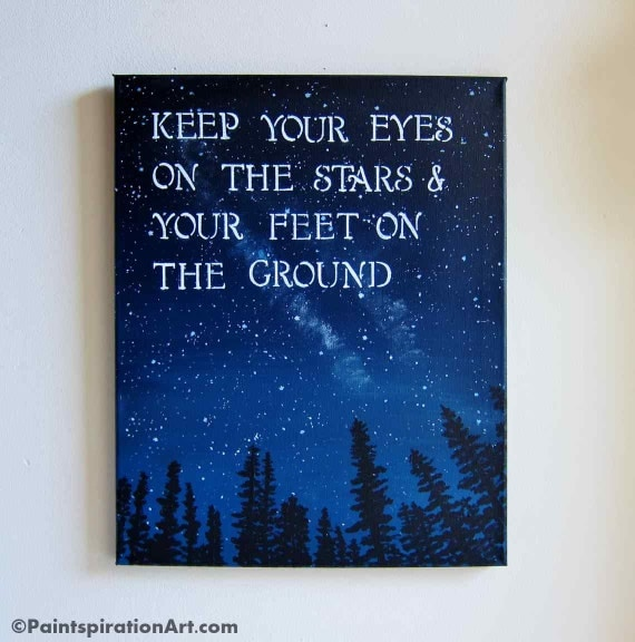 Inspirational quotes canvas painting sayings keep your eyes for Good quotes to paint on my wall
