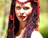 Black and Red Faerie Headdress