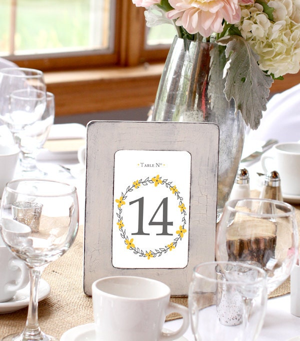 Wedding table numbers fall wedding shabby chic reception for Fall wedding bouquets for sale
