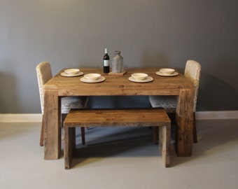 Dining Table or Kitchen Table, Reclaimed Wood Table, Solid Wood, Table
