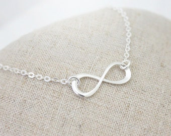 Sterling Silver Infinity bracelet, Friendship bracelet, Bridesmaid gift, wedding,Infinite,love,Mom bracelet