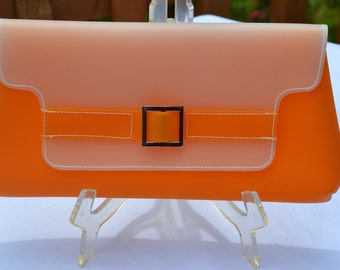 Sale: Neon Orange Jelly Clutch Purse
