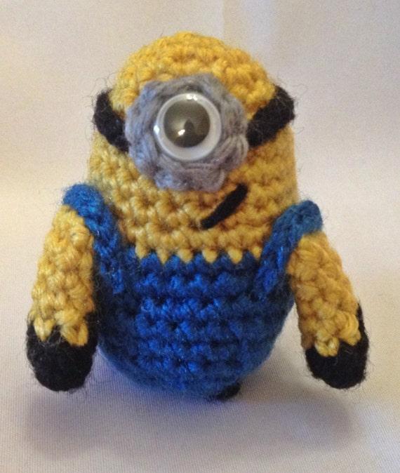 Amigurumi Crochet Minion : Crochet Amigurumi Minion Pattern by GrapeVigneCrochet on Etsy