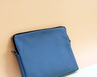 Leather Tablet Case I PAD Case Mini  BLUE