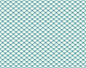 Scallop Fabric - Found Shell Aqua from Lost and Found 2 by My Mind's Eye for Riley Blake C3694 Aqua - 1/2 yard