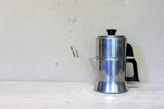 Mirro Percolator Coffee Maker : mid century coffee pot // mirro drip coffee maker // aluminum