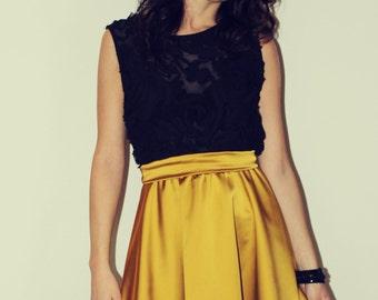 LAST PIECE-  Black and gold dress/Cerimony dress/Party dress/50 dress/New Year's Eve dress