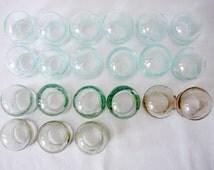1 Old Medical Apothecary Jars, Glass Medical Jars, Original Vintage Old Medical Fire Glass Cupping, Soviet Vintage, 1960s