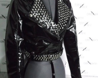 Dark PVC Jacket with studs