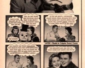 1953 Woman dates a snowman due to bad breath print ad vintage decor Even a Snowman's better than no man!