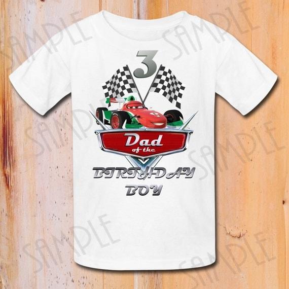 T Shirt Disney Cars Diy Custom Iron On Transfer Printable Dad