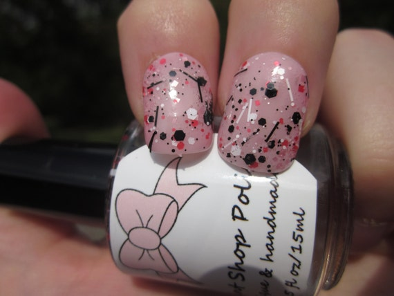 Fight Like A Girl! - Pinks, Black, & White Glitter Topper ~benefits The Breast Cancer Research Foundation~