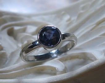 Iolite Ring Sterling Silver, Ready to Ship, Size 5.75
