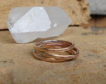 Bronze stacking ring set